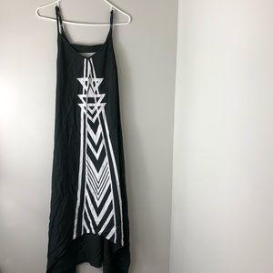 Billabong Black Thin Strap Maxi Dress Small Design